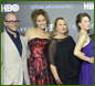 Amy Brenneman, Damon Lindelof, Justin Theroux, Carrie Coon, Chris Zylka, and Margaret Qualley attend HBO's 'The Leftovers' Season 2 Premiere during The ATX Television Festival at the Paramount Theatre on October 3, 2015 in Austin, Texas.