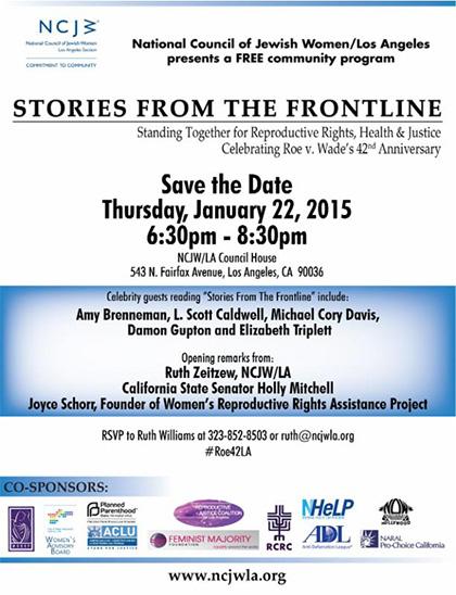 NCJW Event, Jan. 22